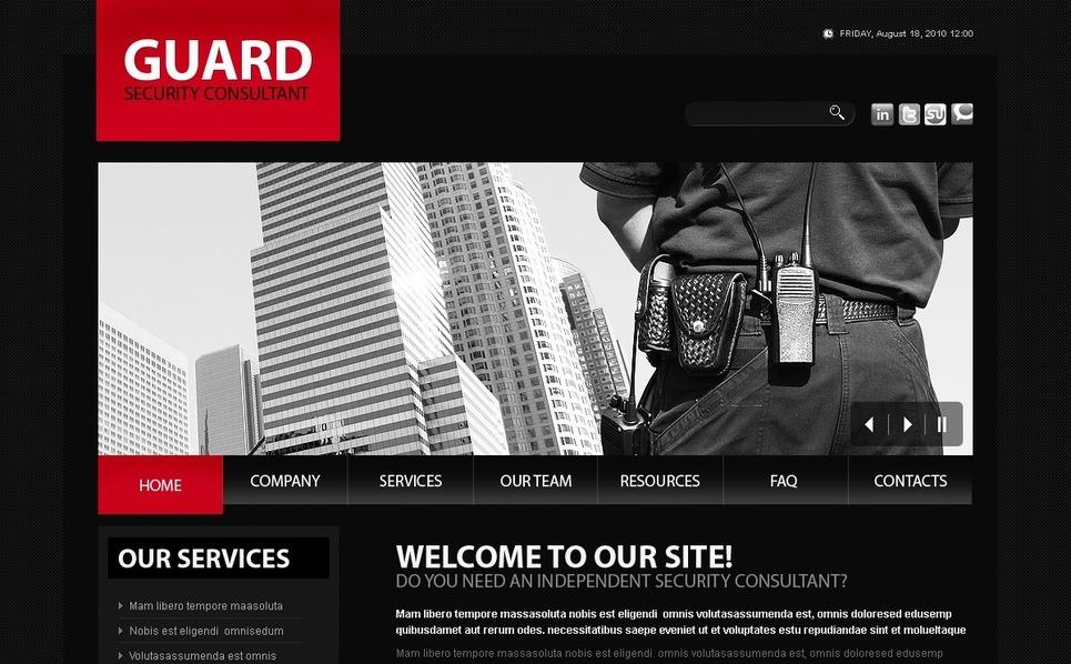 Modello PSD  #56159 per Un Sito di Sicurezza New Screenshots BIG