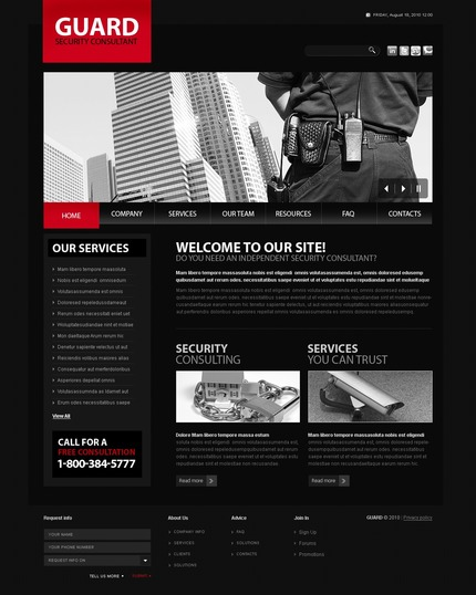 ADOBE Photoshop Template 56159 Home Page Screenshot