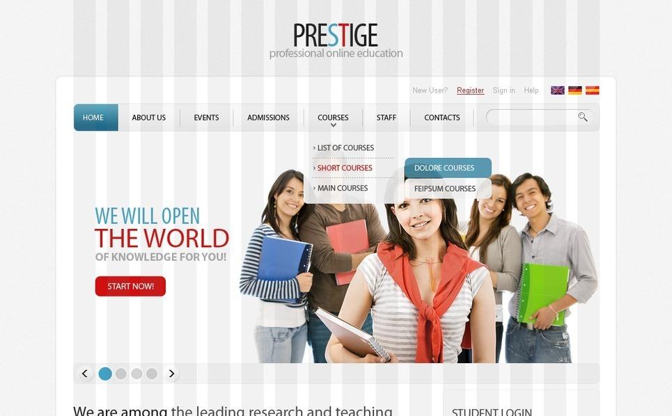 PSD шаблон №56161 на тему сайт образования New Screenshots BIG