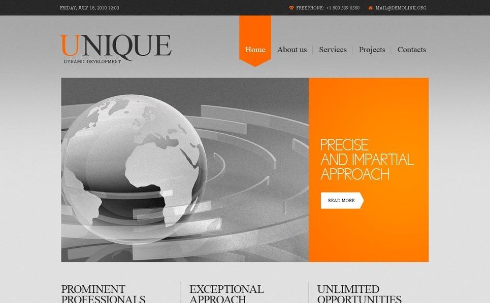 Szablon PSD #56163 na temat: biznes i usługi New Screenshots BIG