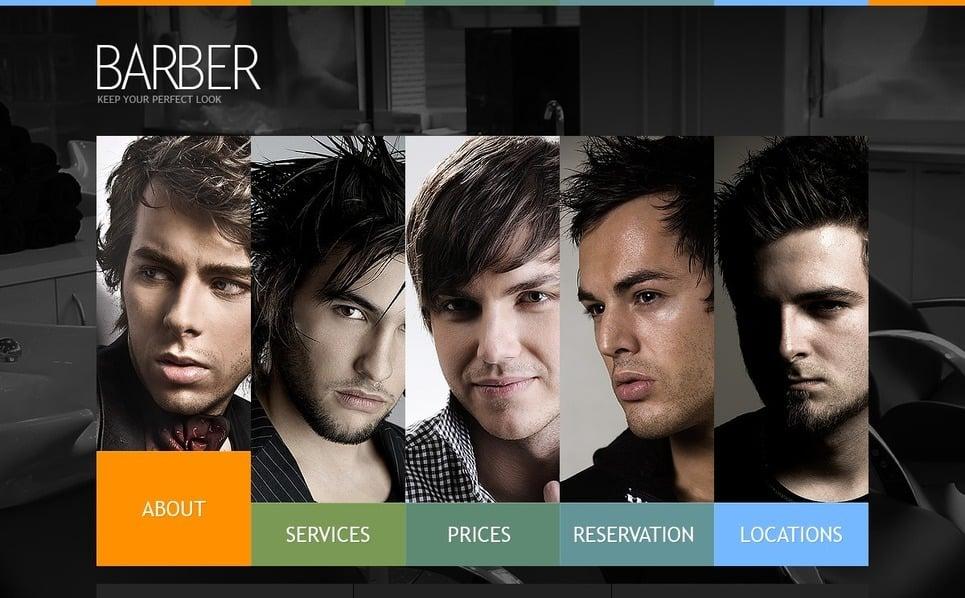 Szablon PSD #56166 na temat: salon fryzjerski New Screenshots BIG