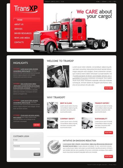 ADOBE Photoshop Template 56171 Home Page Screenshot