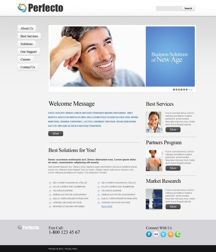 ADOBE Photoshop Template 56173 Home Page Screenshot