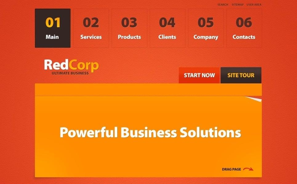 Plantilla PSD #56174 para Sitio de Negocio y Servicios New Screenshots BIG