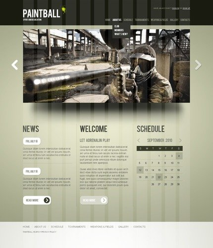 PSD макет сайта №56176
