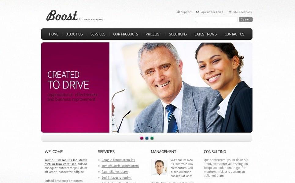 Plantilla PSD #56179 para Sitio de Negocio y Servicios New Screenshots BIG