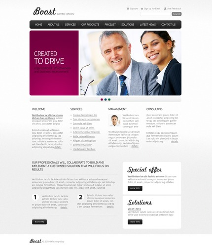 ADOBE Photoshop Template 56179 Home Page Screenshot