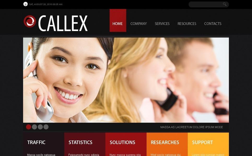 Plantilla PSD #56186 para Sitio de Comunicaciones New Screenshots BIG