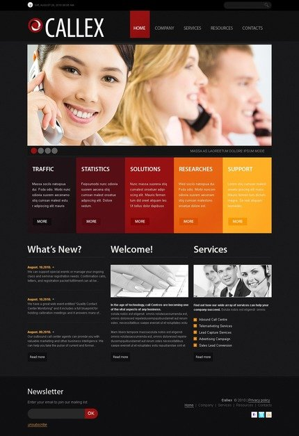 PSD макет сайта №56186