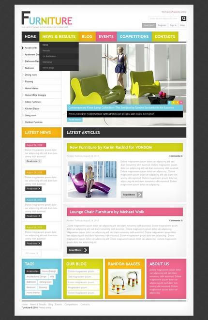 ADOBE Photoshop Template 56188 Home Page Screenshot