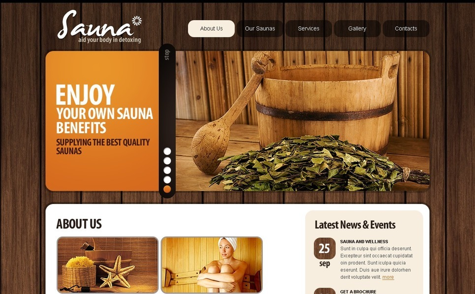 Template Photoshop  para Sites de Sauna №56191 New Screenshots BIG