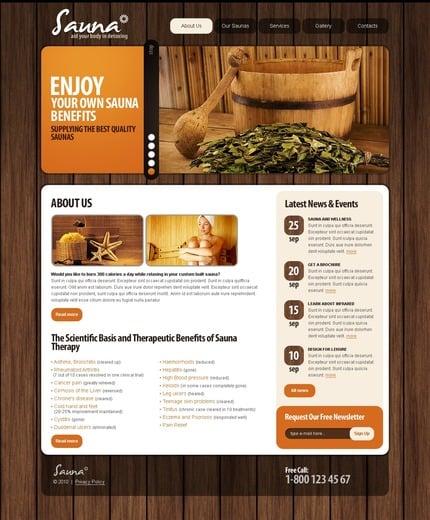 PSD макет сайта №56191