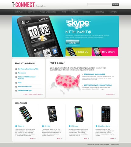 PSD макет сайта №56192