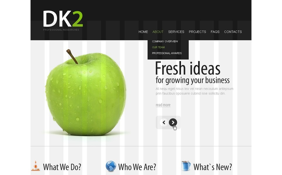 Plantilla PSD #56193 para Sitio de Negocio y Servicios New Screenshots BIG