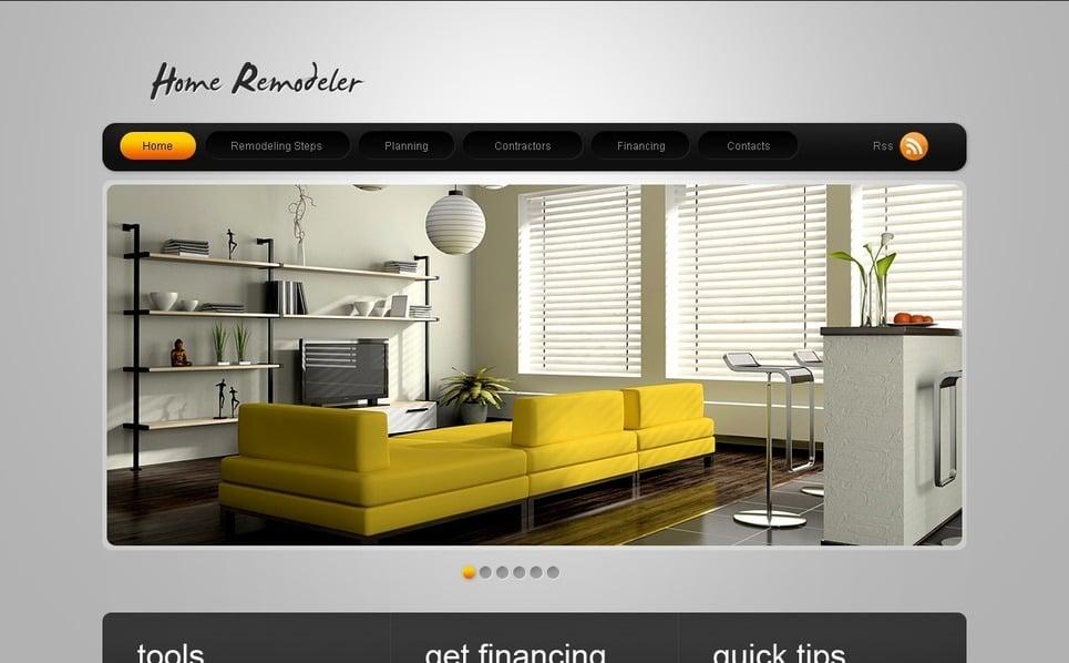 PSD шаблон №56198 на тему домашнее ремоделирование New Screenshots BIG