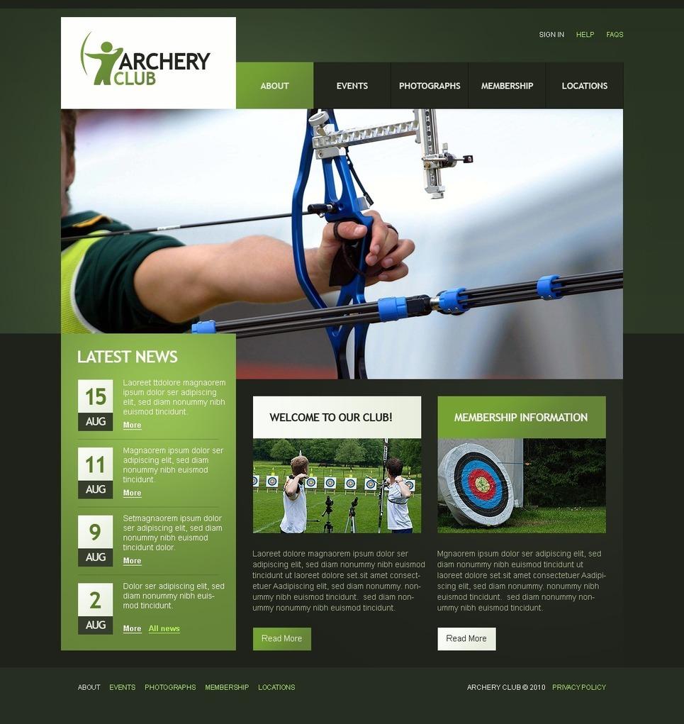 Archery PSD Template New Screenshots BIG