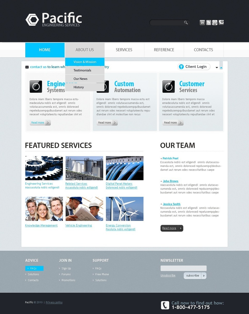 Civil Engineering PSD Template New Screenshots BIG
