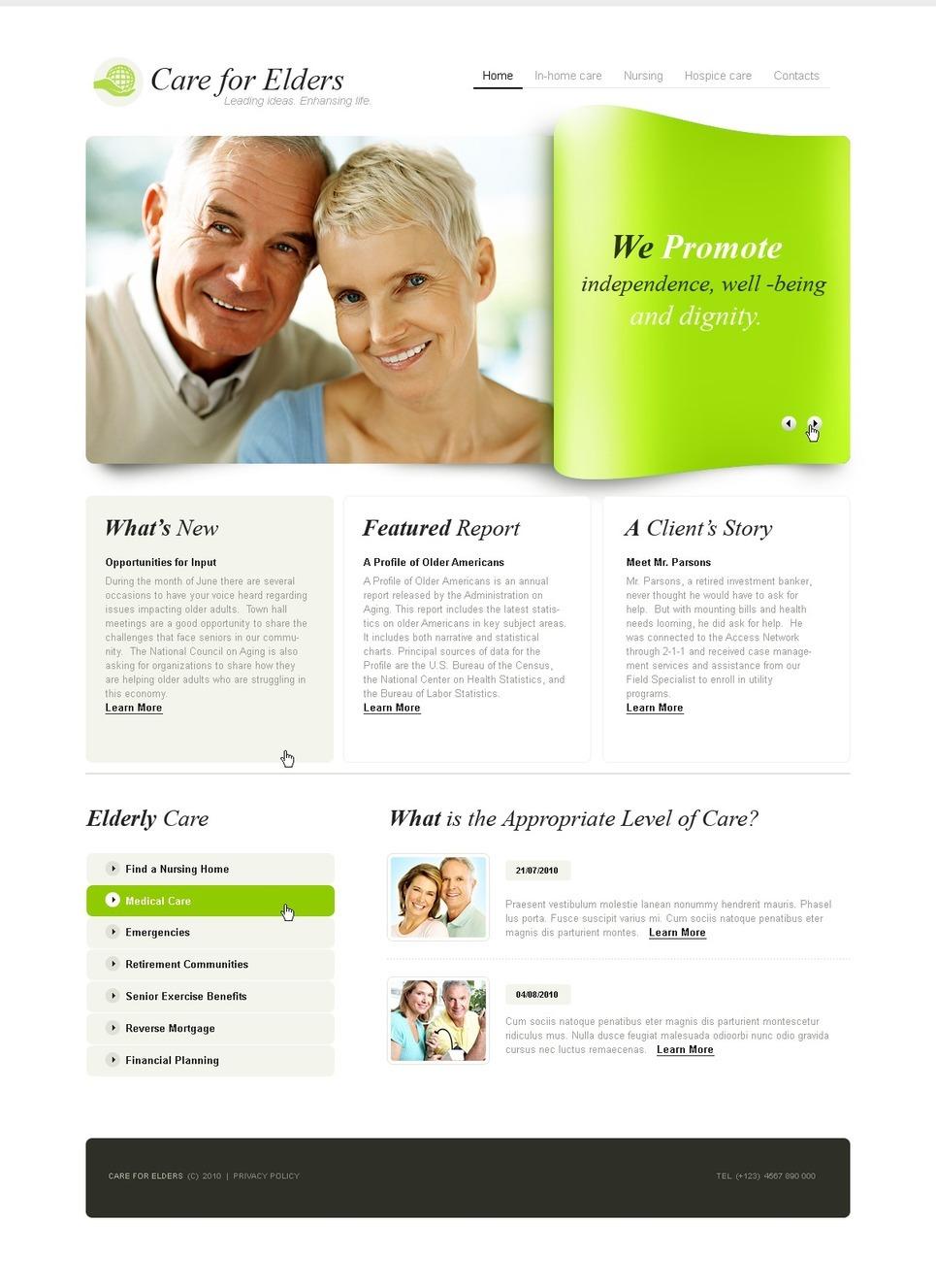 Elderly Care PSD Template New Screenshots BIG