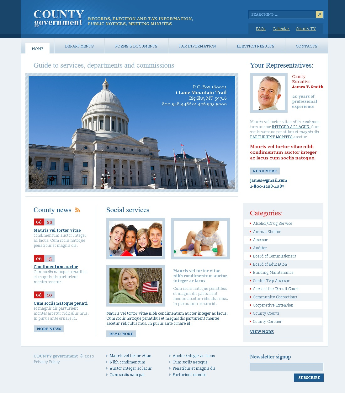 Government PSD Template