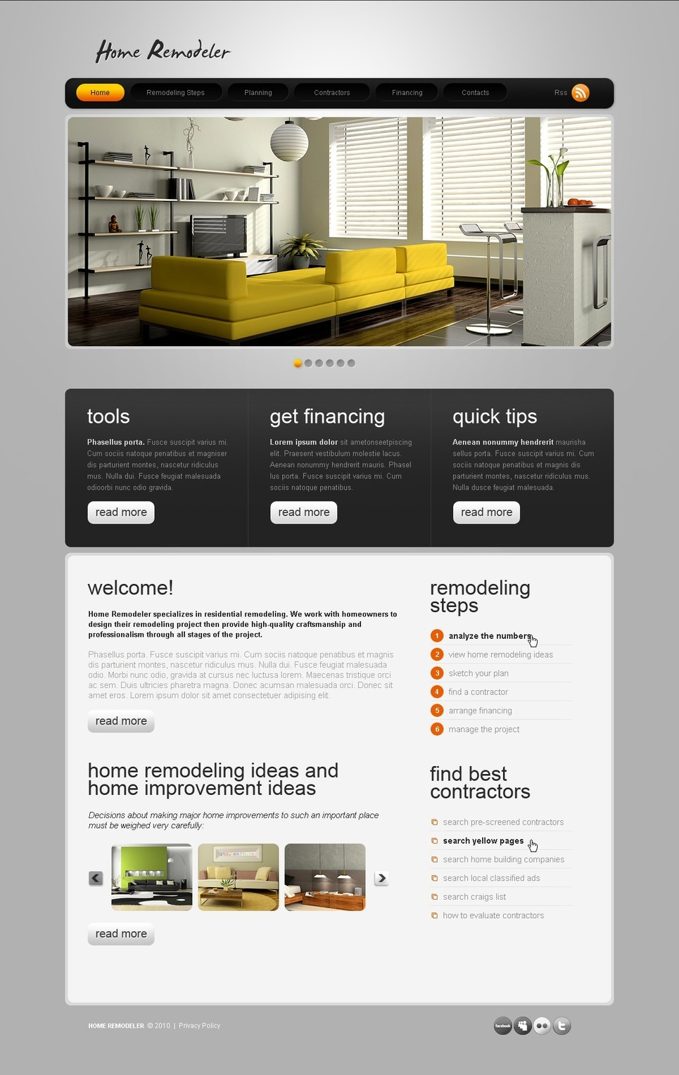 Home Remodeling PSD Template New Screenshots BIG