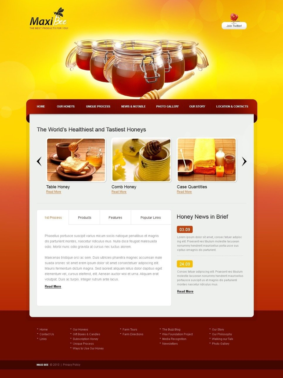 Honey Store PSD Template New Screenshots BIG