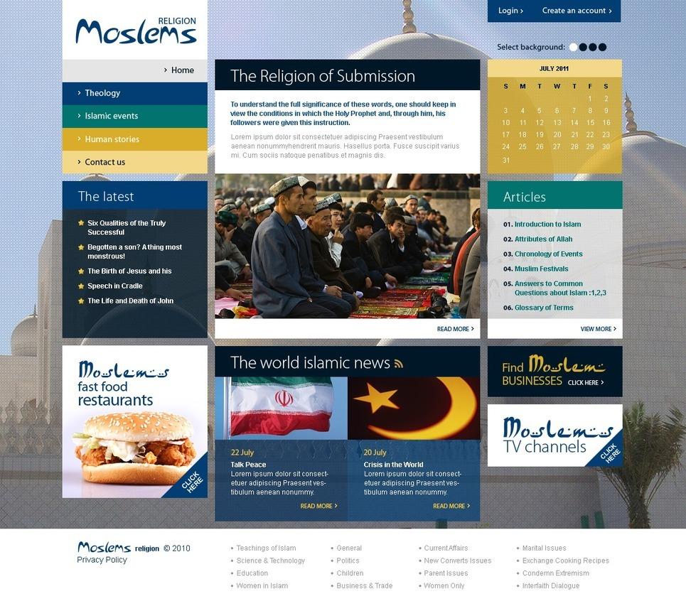 Islam PSD Template New Screenshots BIG