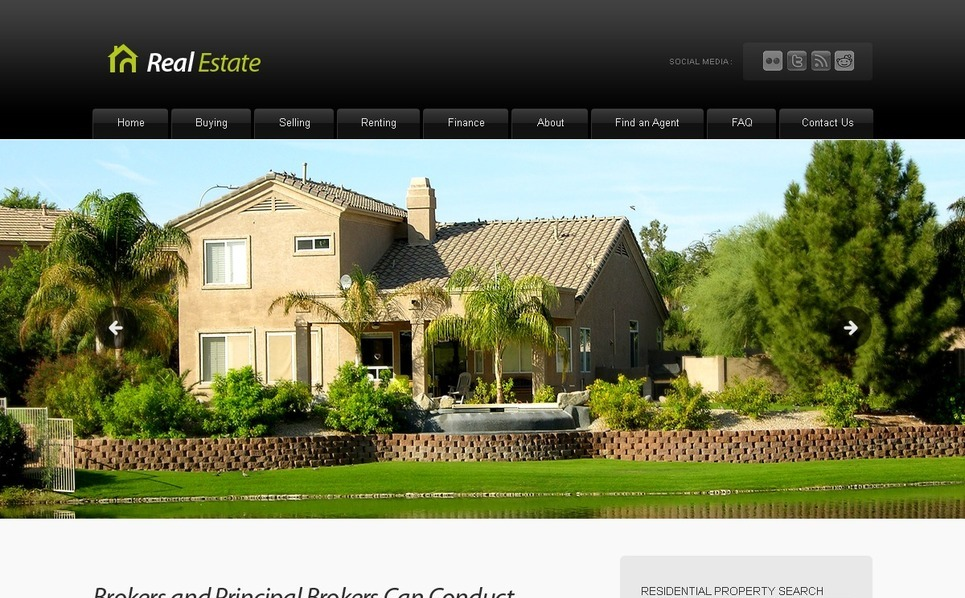 Plantilla PSD #56129 para Sitio de Agencia inmobiliaria New Screenshots BIG
