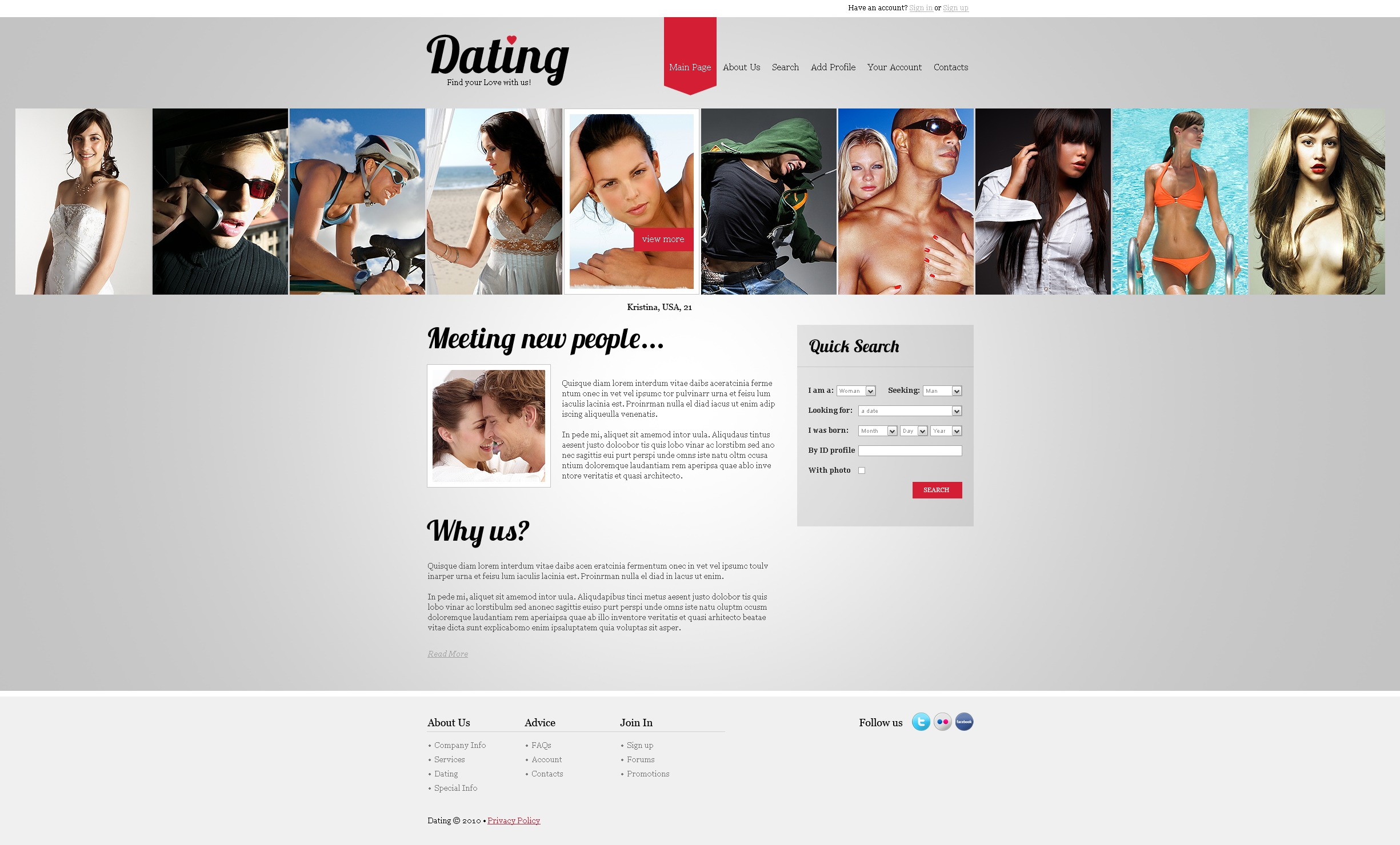 Шаблон для сайта знакомств купить