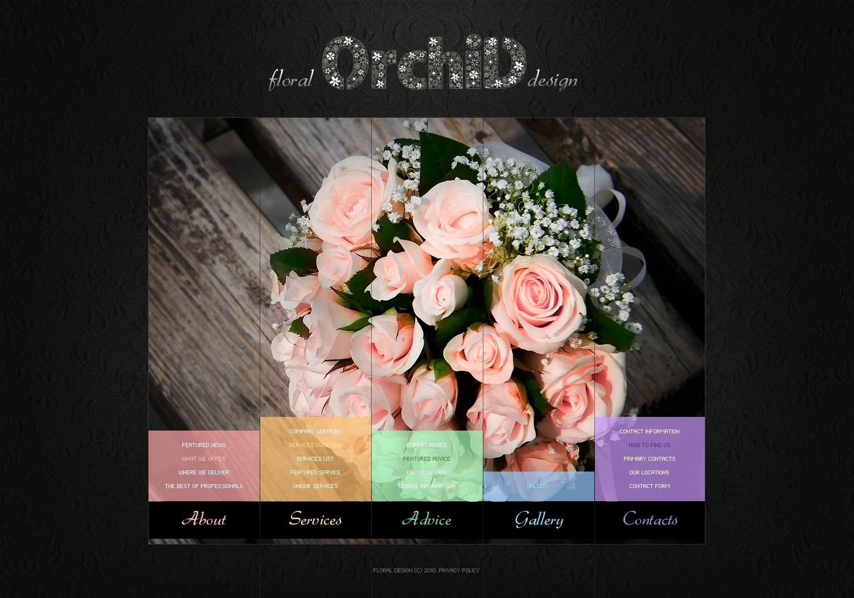 PSD šablona Květiny #56119