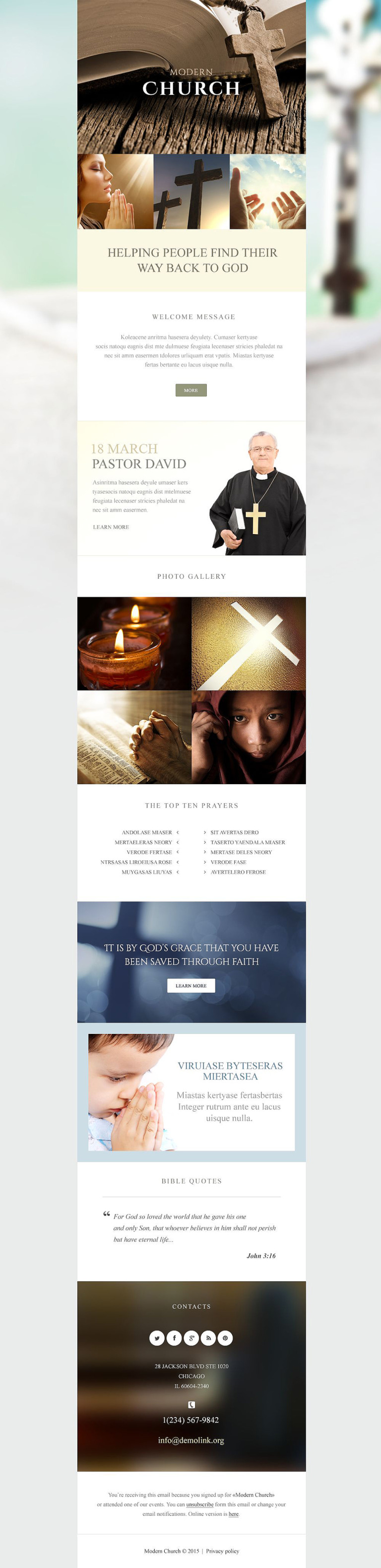 Religious Responsive Newsletter Template New Screenshots BIG