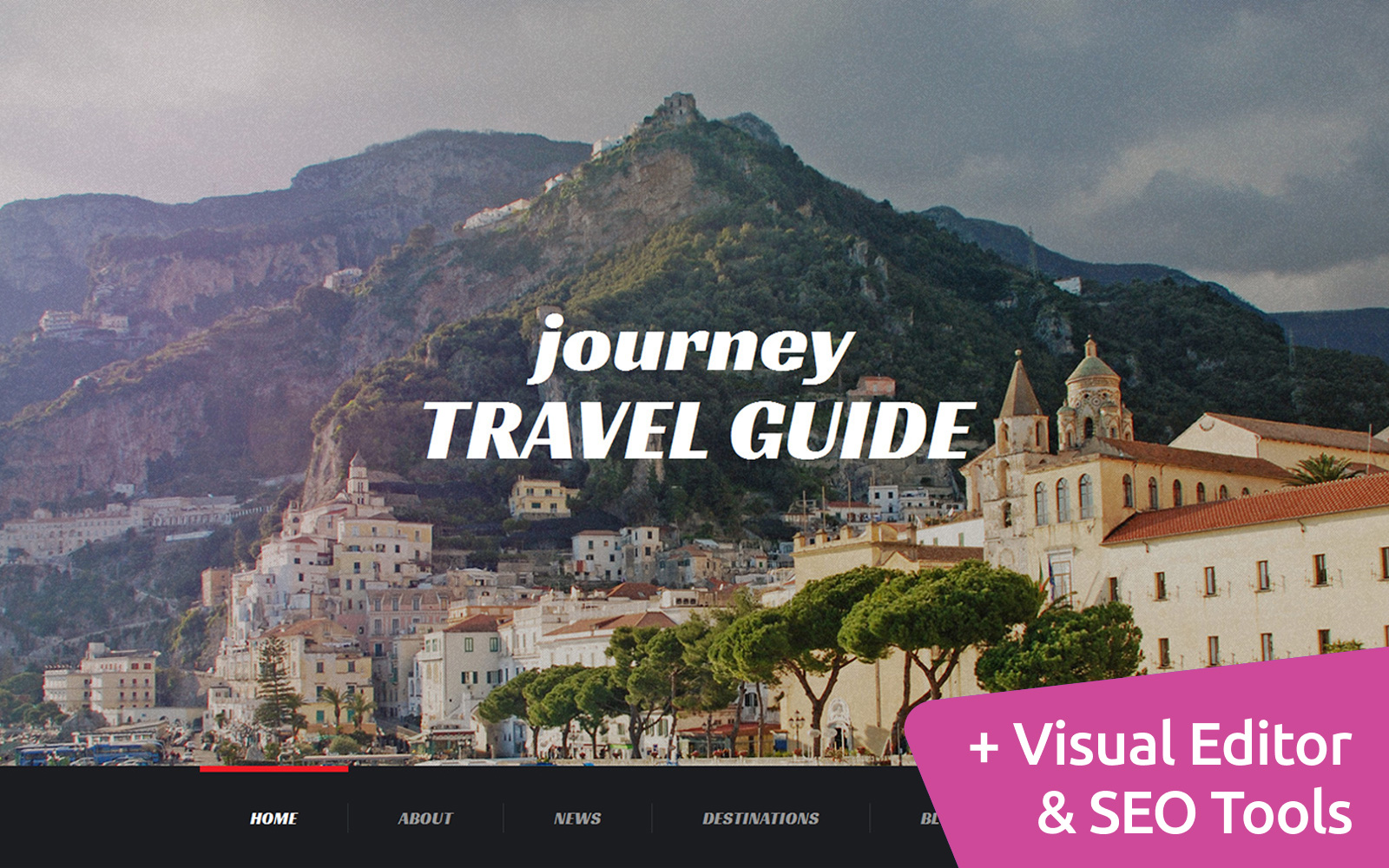 Responsivt Journey - Travel Agency Moto CMS 3-mall #56104