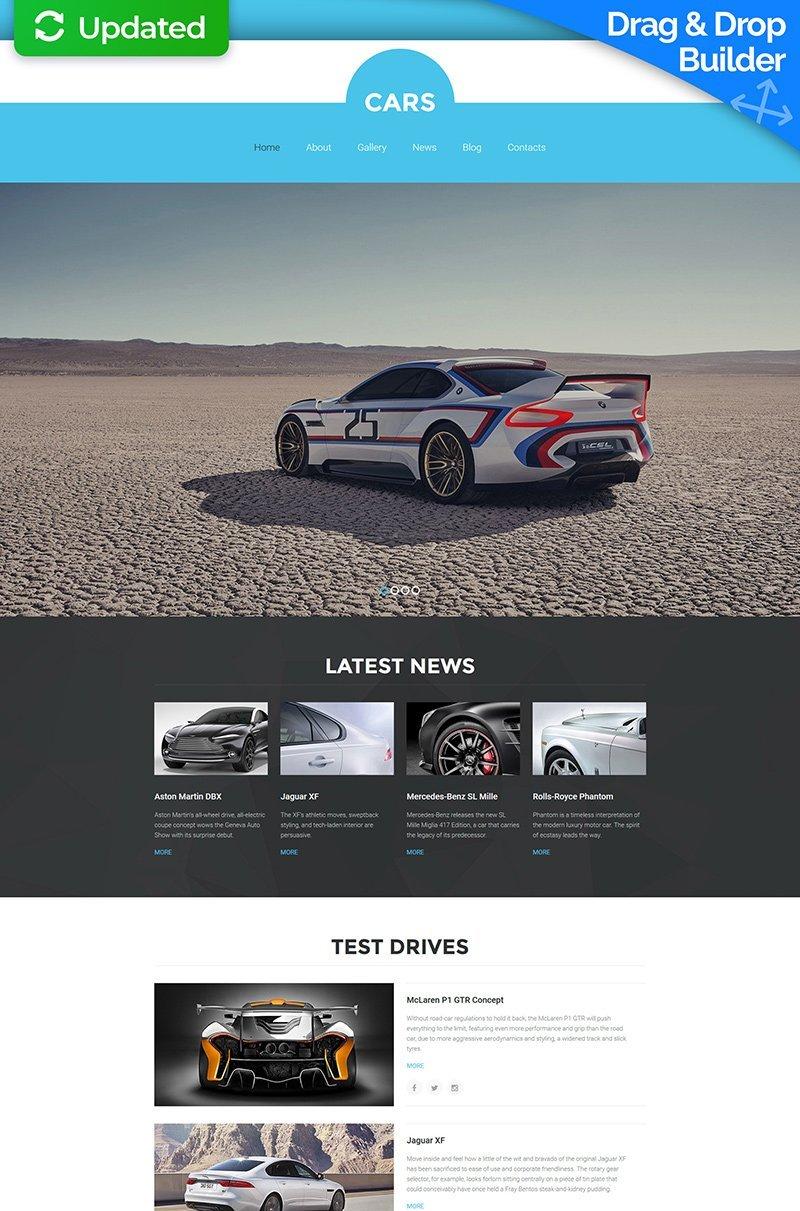 Templates Moto CMS 3 Flexível para Sites de Clube de Carros №56106