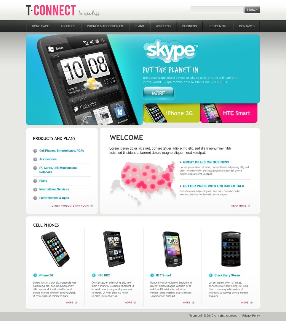 VOIP PSD Template New Screenshots BIG