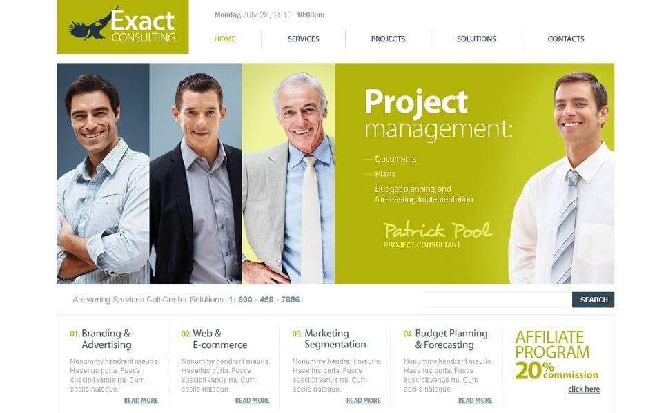 Plantilla PSD #56200 para Sitio de Consultoría New Screenshots BIG