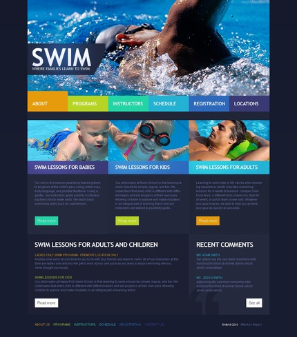 PSD макет сайта №56205