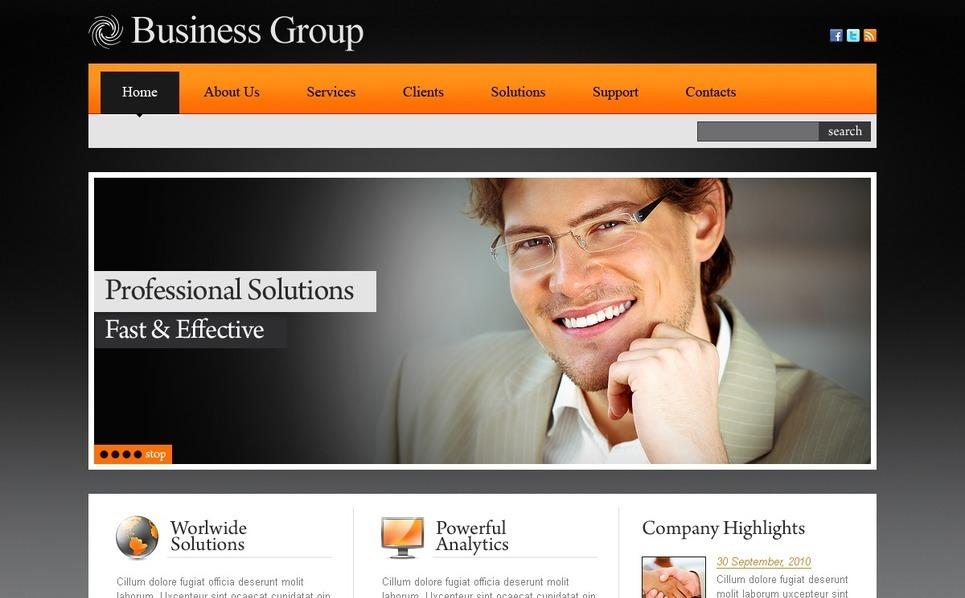 Plantilla PSD #56208 para Sitio de Negocio y Servicios New Screenshots BIG