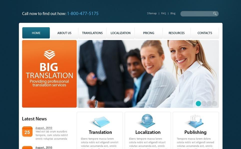 Szablon PSD #56209 na temat: biuro tłumaczeń New Screenshots BIG