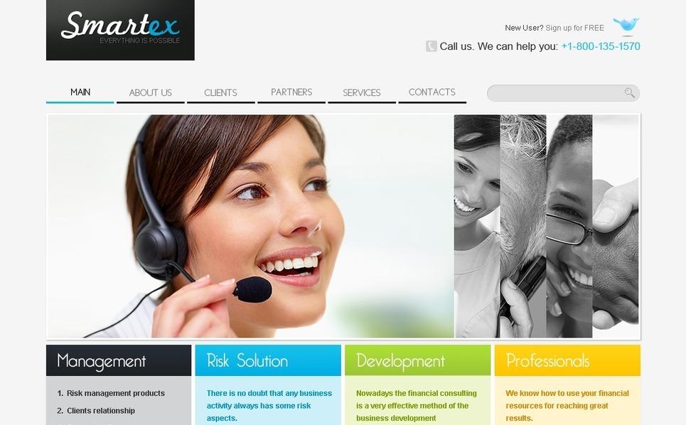 Plantilla PSD #56213 para Sitio de Negocio y Servicios New Screenshots BIG