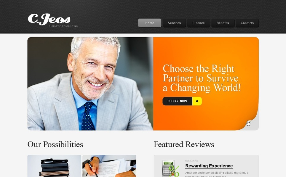Business PSD Template New Screenshots BIG