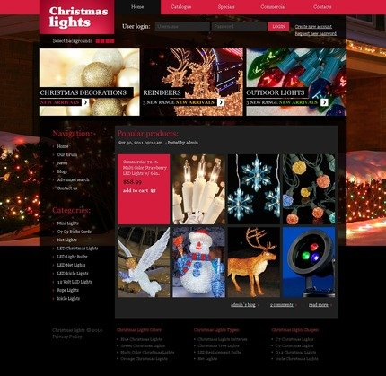 ADOBE Photoshop Template 56221 Home Page Screenshot