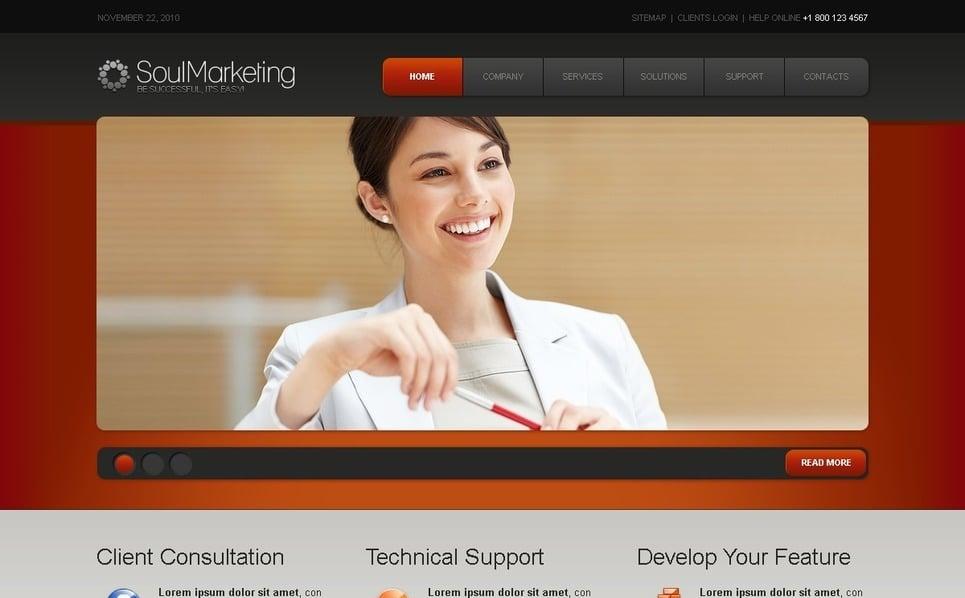 Plantilla PSD #56224 para Sitio de Agencia de marketing New Screenshots BIG