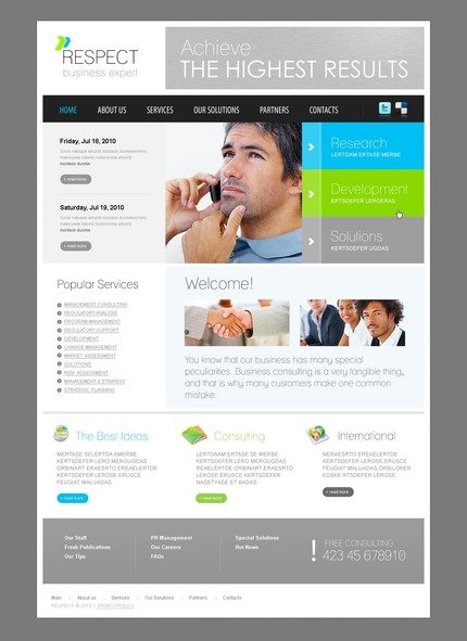 ADOBE Photoshop Template 56228 Home Page Screenshot
