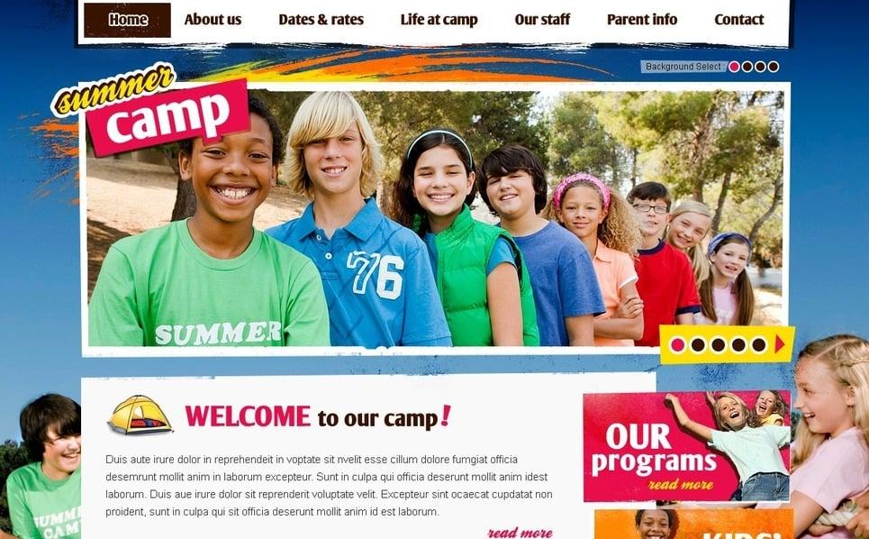 PSD Template over Zomerkamp  New Screenshots BIG