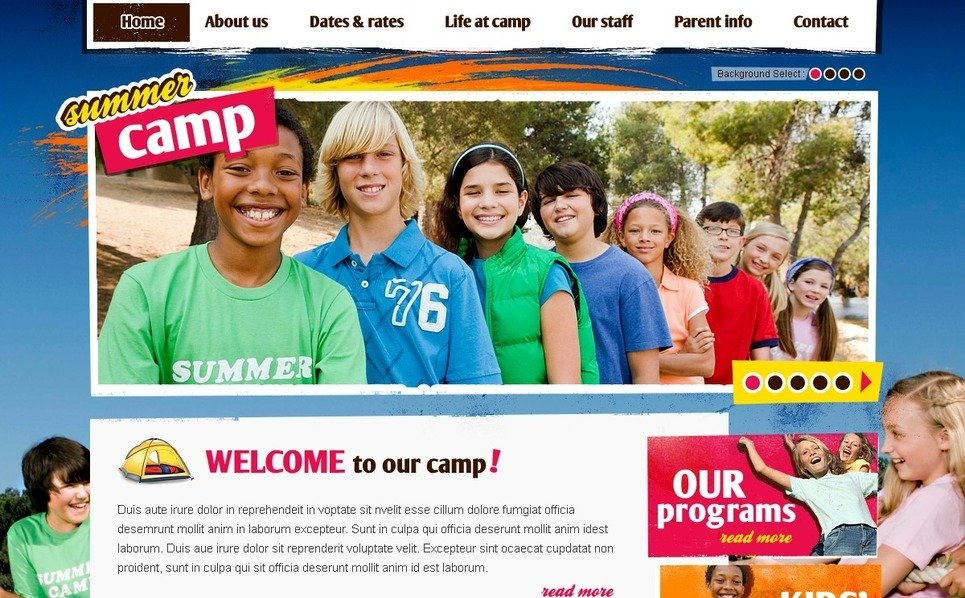 PSD šablona Letní tábor New Screenshots BIG