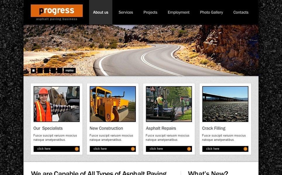 Szablon PSD #56238 na temat: przemysł New Screenshots BIG