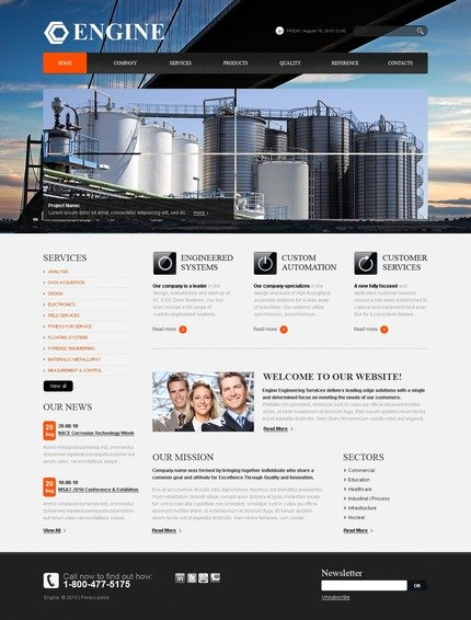 PSD макет сайта №56239