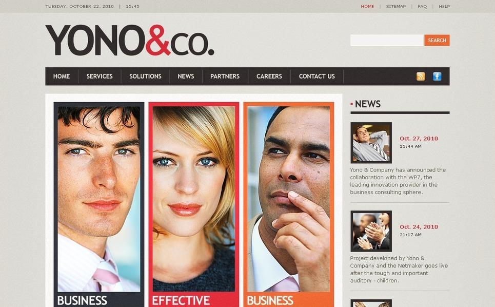 Modello PSD  #56240 per Un Sito di Business e Servizi New Screenshots BIG