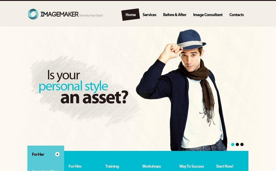 Template Photoshop  para Sites de Consultoria №56243 New Screenshots BIG