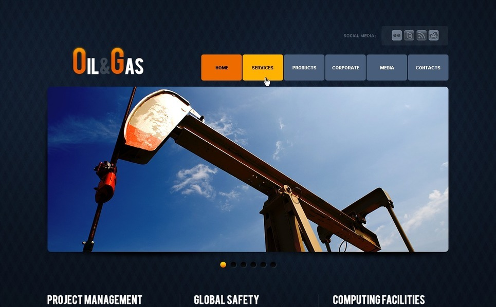 PSD Template over Gas & Olie  New Screenshots BIG