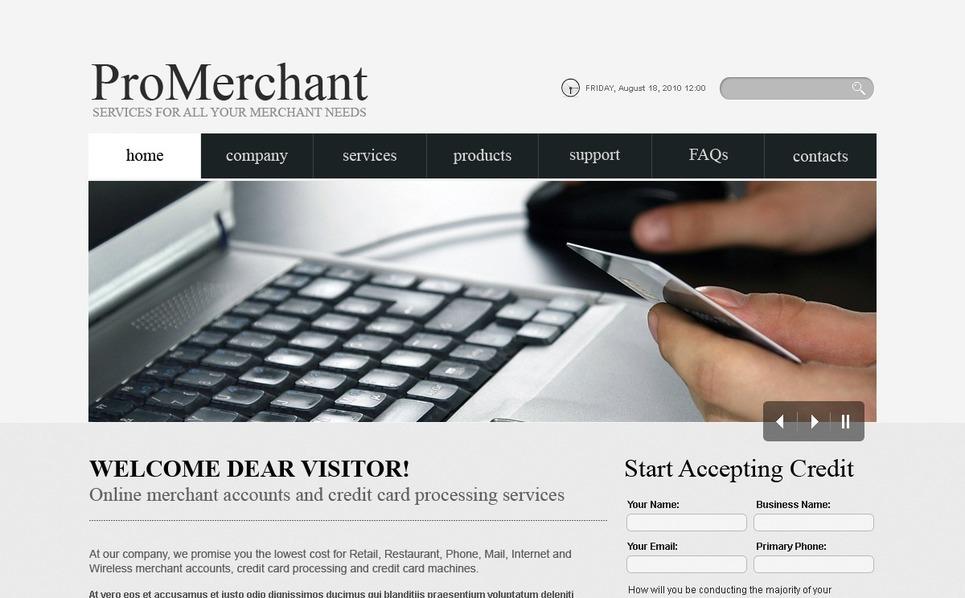 Template Photoshop  para Sites de Serviços comerciais №56249 New Screenshots BIG